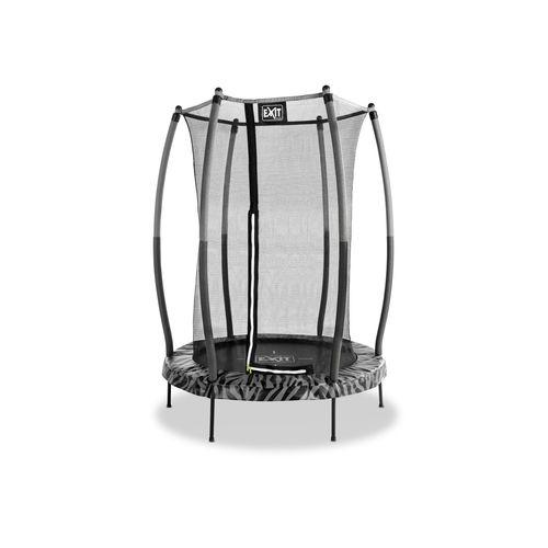 Exit trampoline Tiggy Junior met veiligheidsnet ø140cm zwart/grijs