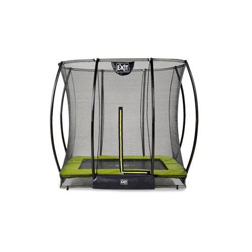 Exit in-ground trampoline Silhouette met veiligheidsnet 153x214cm groen