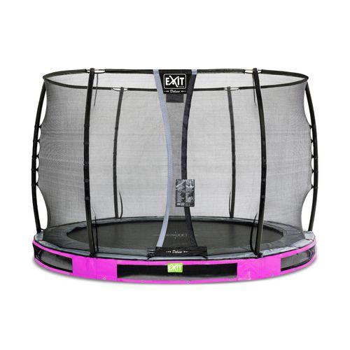 Trampoline enterré Exit Elegant Premium ø305cm avec filet de sécurité Deluxe violet