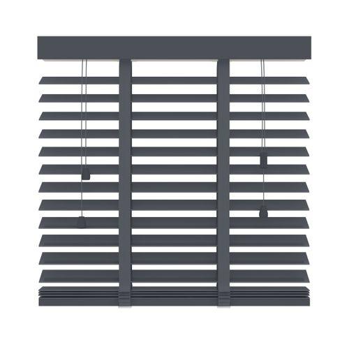 Decosol 955 horizontale jaloezie hout antraciet 80x220cm