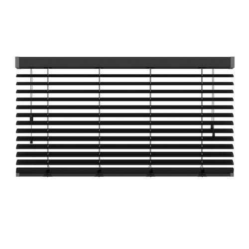 Decosol 320 horizontale jaloezie aluminium Lux mat zwart 140x180cm