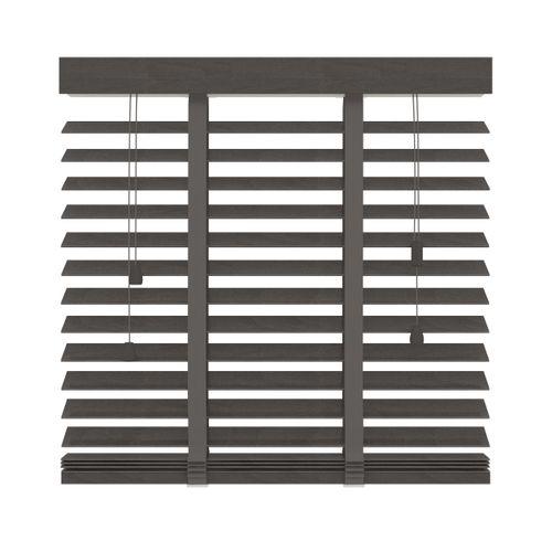 Decosol 962 horizontale jaloezie hout Lux donkerbruin 140x180cm