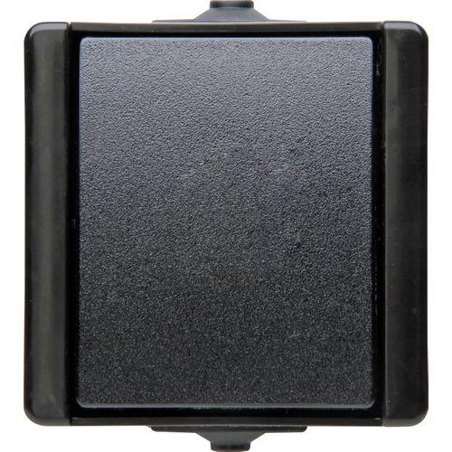 Kopp ProAQA wisselschakelaar spatwaterdicht zwart