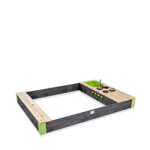 Bac à sable en bois EXIT Aksent 200x140cm