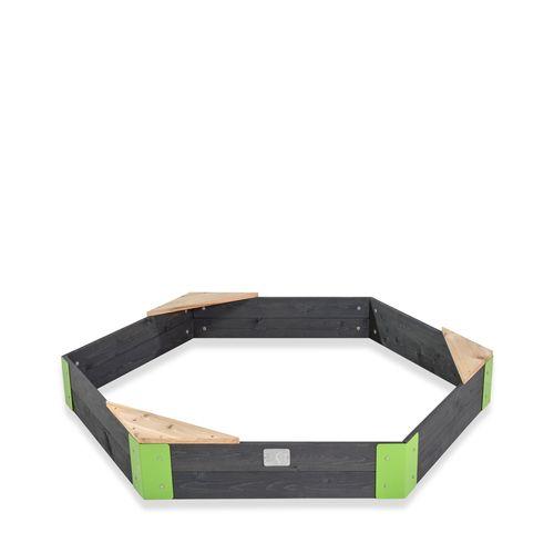 Bac à sable hexagone en bois EXIT Aksent 160x140cm