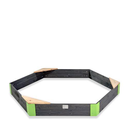 Bac à sable hexagone en bois EXIT Aksent 200x170cm