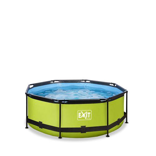 Piscine tubulaire + pompe filtrante EXIT Lime vert Ø244x76cm
