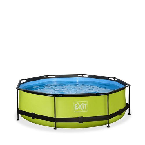 EXIT Lime opzetzwembad met filterpomp groen ø300x76cm