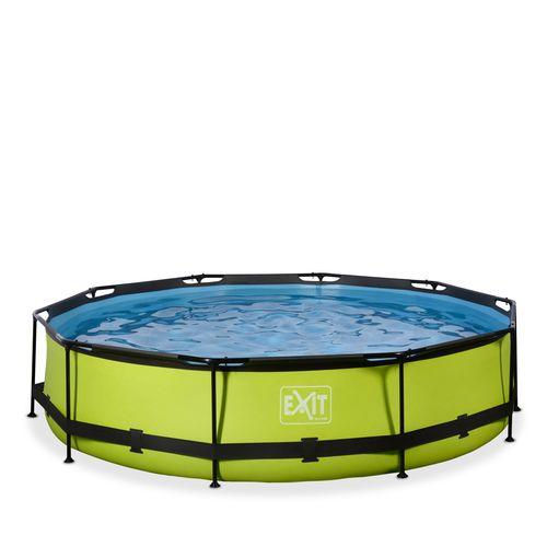 Piscine tubulaire + pompe filtrante EXIT Lime vert Ø360x76cm