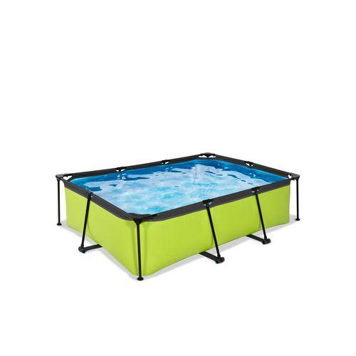 EXIT Lime opzetzwembad met filterpomp groen 220x150x65cm