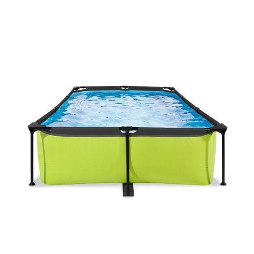 EXIT Lime opzetzwembad met filterpomp groen 300x200x65cm