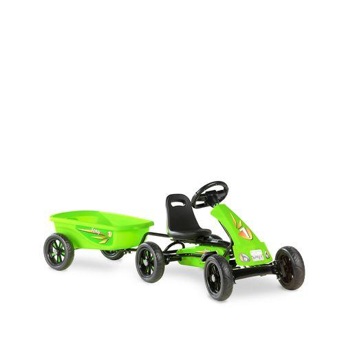 Kart EXIT Foxy Green avec remorque vert