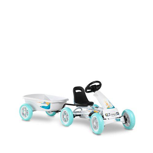 Kart EXIT Foxy Club avec remorque blanc