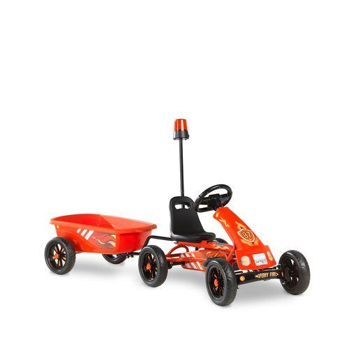 Kart EXIT Foxy Fire avec remorque rouge