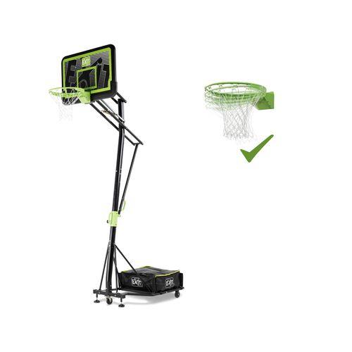 Panneau de basket mobile à roulettes EXIT Galaxy avec cercle dunk black edition