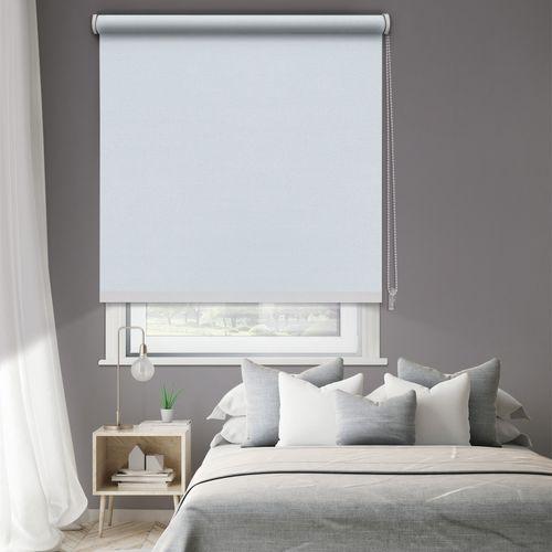 Madeco thermisch verduisterende rolgordijn manueel effen wit 180x250cm