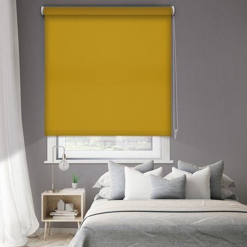 Madeco thermisch verduisterende rolgordijn manueel mosterdgeel 120x190cm