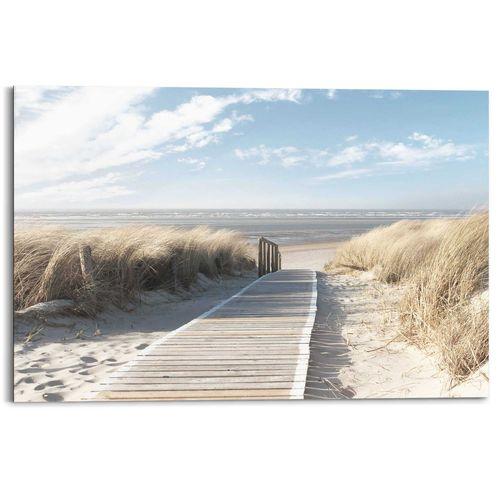 Schilderij Pad door de duinen blauw 90x60cm
