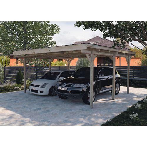 Weka dubbele carport 616 500x500cm