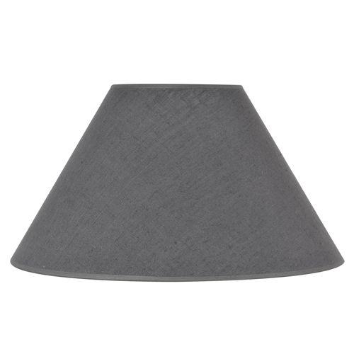 Abat-jour Corep lin lavé anthracite Ø40cm