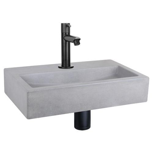 Differnz fonteinset Mix&Match Flat beton recht mat zwart