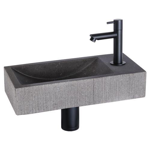 Differnz fonteinset Mix&Match set Ribble recht mat zwart
