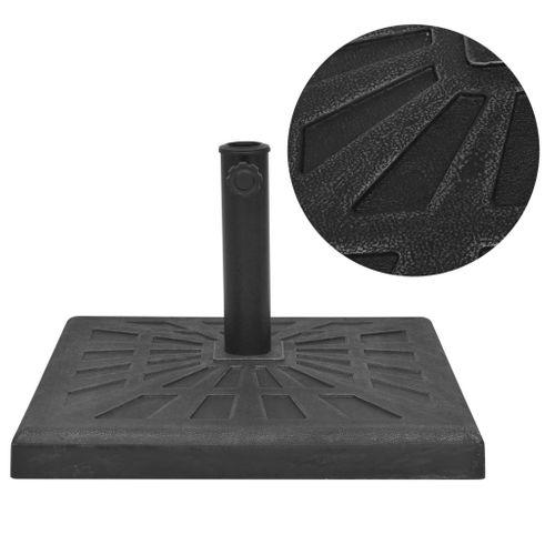 VidaXL parasolvoet vierkant 19kg hars zwart