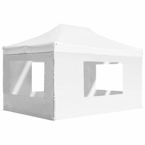 VidaXL opvouwbare partytent met aluminium wanden 4,5x3m wit
