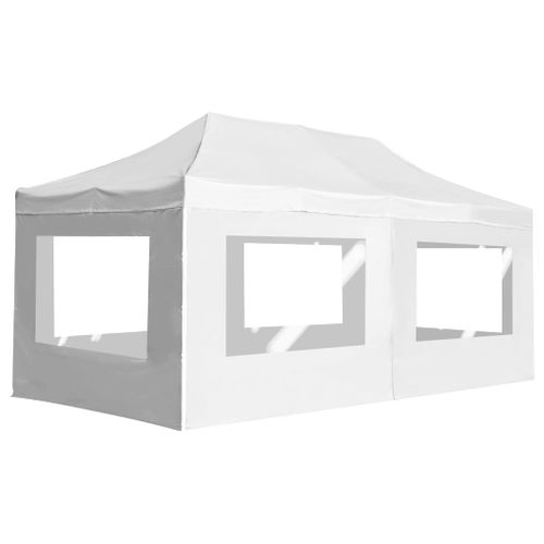 VidaXL opvouwbare partytent met aluminium wanden 6x3m wit