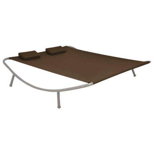 VidaXL zonnebank 200x173cm staal bruin