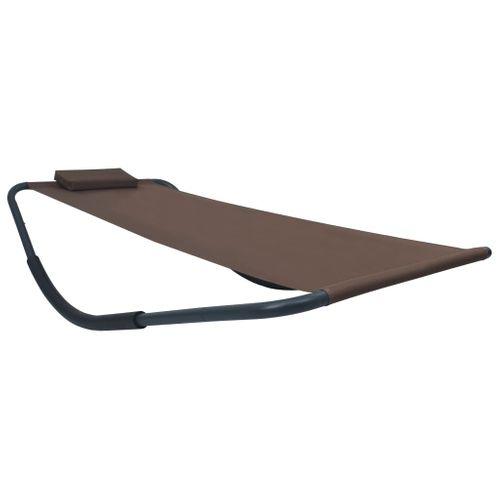 VidaXL ligstoel 200x90cm stalen bruine
