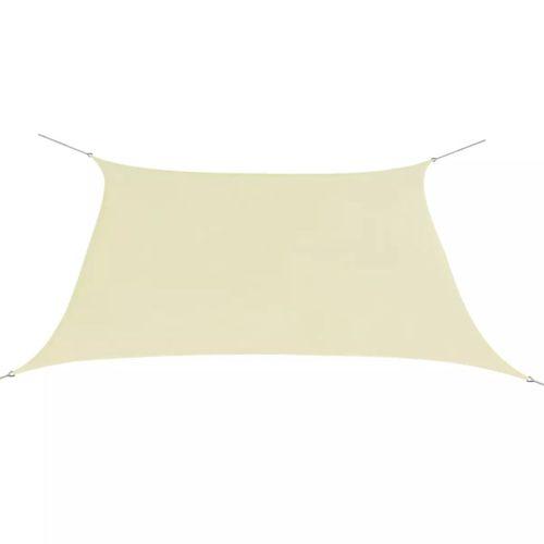 VidaXL vierkant schaduwzeil 3,6x3,6m Oxford stof crème