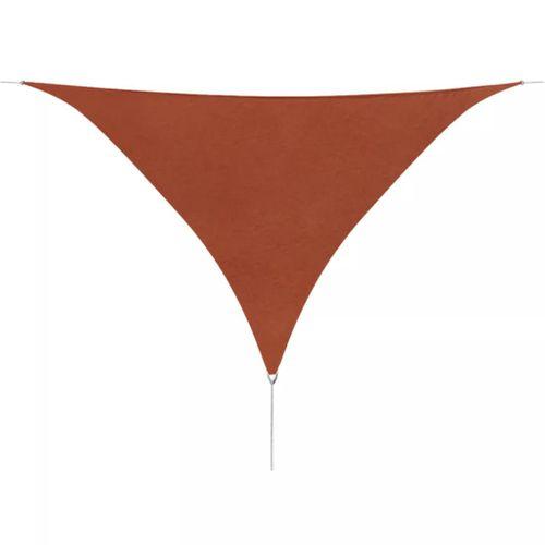 VidaXL schaduwdoek Oxford driehoek 5x5x5m terracotta