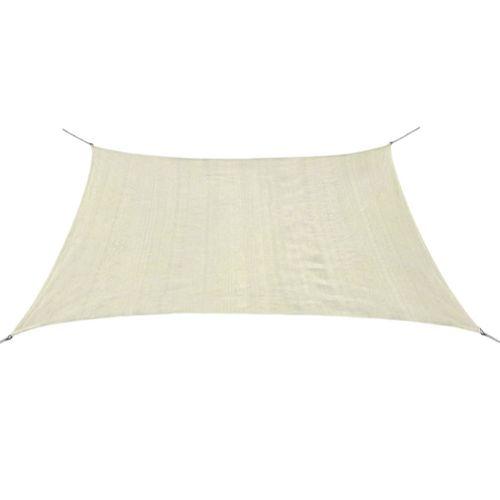 VidaXL zonnescherm HDPE vierkant 2x2 m crème