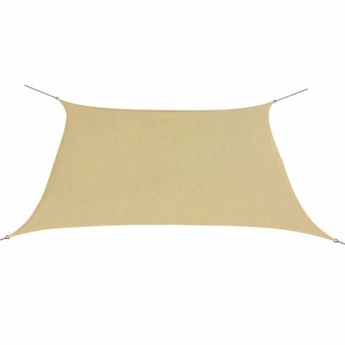 VidaXL zonnescherm vierkant Oxford stof beige 3,6x3,6m