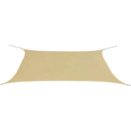 VidaXL zonnescherm rechthoekig 4x6 m oxford stof beige