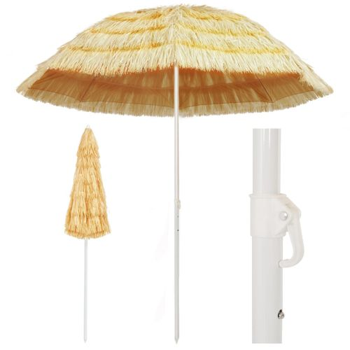 VidaXL strandparasol Hawaï stijl 240 cm naturel