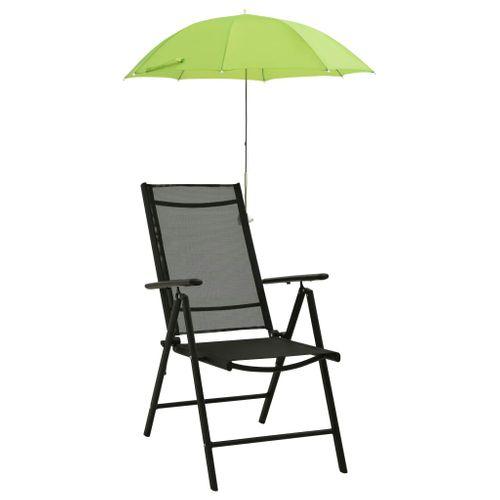 VidaXL campingstoelparasols 105cm groen 2st.