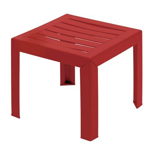 Table basse de jardin Grosfillex Miami PVC 40x40cm rouge