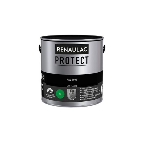 Laque Renaulac Protect RAL9005 mat 2,5L