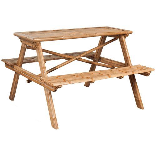 VidaXL picknicktafel 120x120x78 cm bamboe