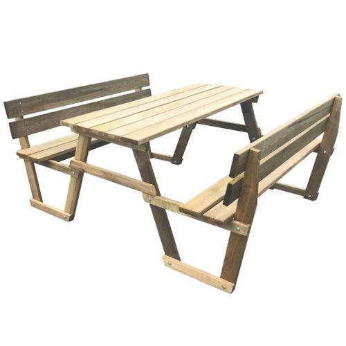 VidaXL picknicktafel met banken 150x184x80cm geïmpregneerd grenenhout