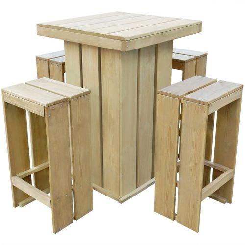 VidaXL tuinset geïmpregneerd grenenhout 5-delig