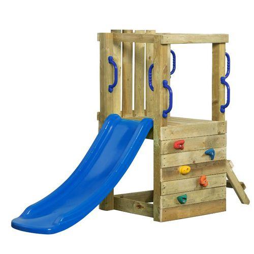 Terrain de jeux SwingKing Irma avec toboggan 1,2m bleu