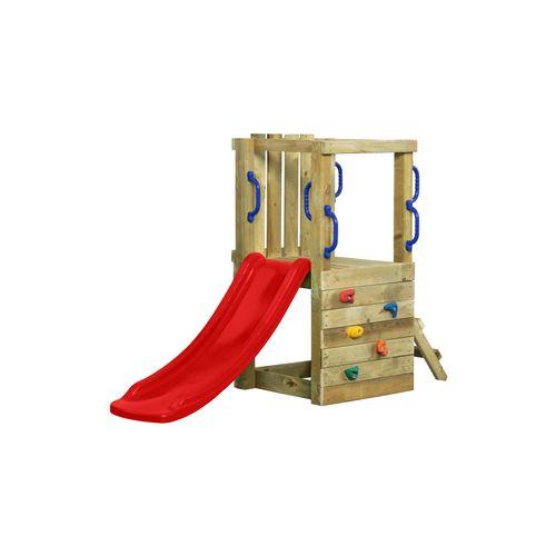 SwingKing speeltoestel Irma met glijbaan 1,2 rood