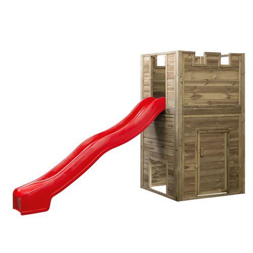 Tour de jeu SwingKing Lancelot avec toboggan 2,5m rouge