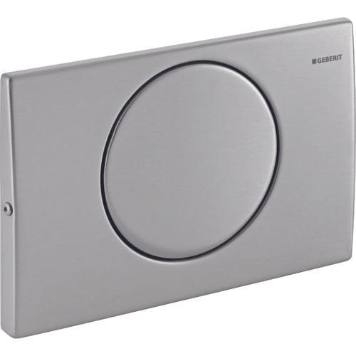 Plaque de commande avec bouton marche/arrêt Geberit Mambo inox 246x164x25mm