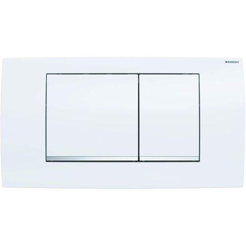 Geberit bedieningspaneel Twinline 30 voor inbouwreservoir 340x185x32mm wit