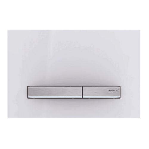 Plaque de commande Geberit Sigma 50 plastique blanche/chrome 24,6x16,4cm