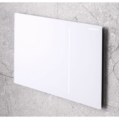 Geberit bedieningspaneel Sigma 70 met 2 spoeltoetsen 24x15,8cm wit glas